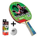 #10: Butterfly Wakaba 1000 Table Tennis Combo (Butterfly Wakaba 1000 Table Tennis Bat + GKI Premium 3 Star 40 Table Tennis Ball, Box of 3 - White)