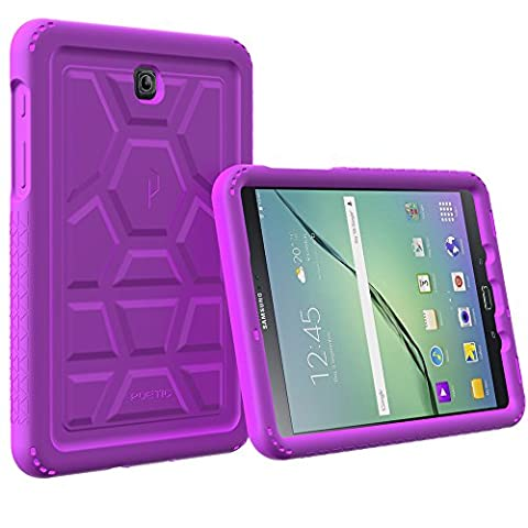 Galaxy Tab A 8.0 Case - Poetic [Turtle Skin Series]-[Corner/Bumper Protection][Tactile side Grip][Sound-Amplification][Bottom Air Vents] Protective Silicone Case for Samsung Galaxy Tab A 8.0 Purple