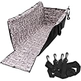 Fuloon Waterproof Dogs Car Seat Cover,Pets Safety Travel Hammock Mat Blanket Washable Double Layer Protector (Adjustable Lock Buckles) Fits for Car