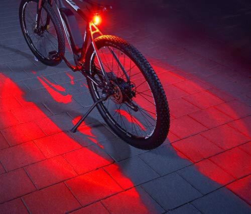 Fischer LED luz trasera//luz con soporte universal batería//batería StVZO