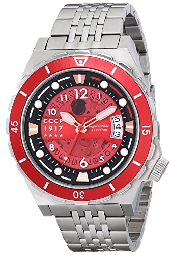 CCCP Men's CP-7022-44 Aurora Analog Display Japanese Automatic Silver Watch