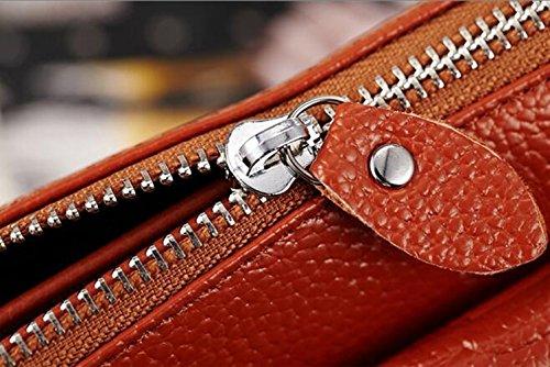 MeiliYH Ladies Borsa in PU pelle obliquo Multi-layer Packet Serpentine Multi-Hand Bag blu_navy