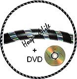 Hooping4Life Gewichteter Hula-Hoop-Reifen mit Anleitungen auf CD, 101,6 cm Durchmesser, 625 g, Silber / Schwarz