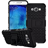 Dream2cool FOR Samsung Galaxy A8 Tough Hybrid Flip Kick Stand Spider Hard Dual Shock Proof Rugged Armor Bumper Back Case Cover For Samsung Galaxy A8 (BLACK)