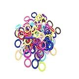 Shuny 60 Stück Haargummi,Kunststoff-Spirale,Gummibändern Telefonkabel elastisch (Kunststoff-Spirale) Haarband,Telefonkabel, elastisch,Haarschmuck,Zufällige Farbe