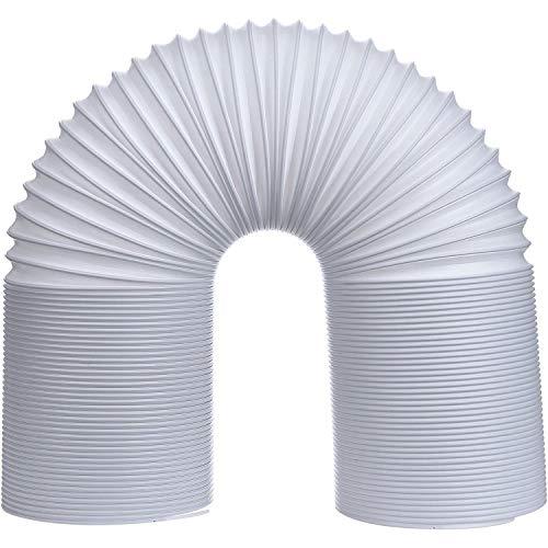 GEORGE Abluftschlauch KlimageräT Ø 128/130 mm 2m, Abluftschlauch Pvc Flexibel, GeräUscharm, Abluftschlauch HitzebestäNdiger Einziehbarer -