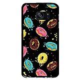 BJJ SHOP Schwarz Hülle für [ Samsung Galaxy S7 ], Klar Flexible Silikonhülle, Design: Doughnut mit Puderzucker Glasur