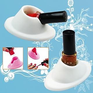A-szcxtop(tm) 2pcs White Soft Rubber Nail Polish Bottle Holder Nail Art Manicure Tools by A-szcxtop(TM)