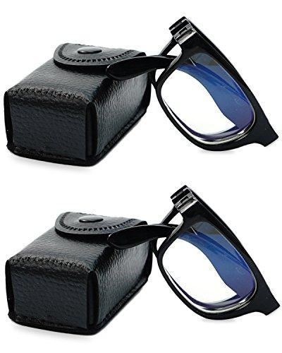 VEVESMUNDO Lesebrille Faltbar Anti Müdigkeit Computer Sehhilfe Arbeitsplatzbrille NerdBrille mit...