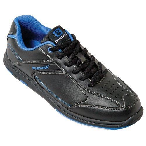 Herren Bowlingschuhe Brunswick Flyer schwarz/blau (US 14 (46))