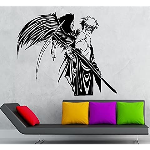 GGWW Wall Stickers Vinyl Decal Angel Of Death Anime Manga Gothic Room Decor (Ig1781)