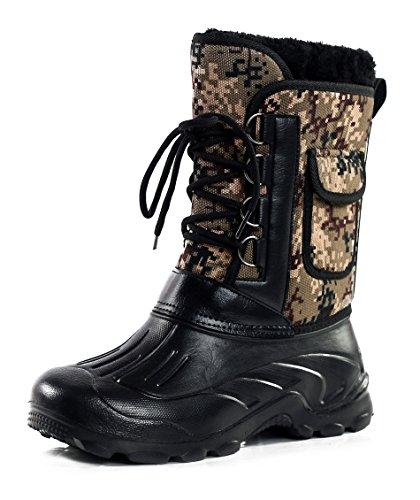 AgeeMi Shoes Homme Hiver Bottes de Neige Lacets Plus Épais Chaussure