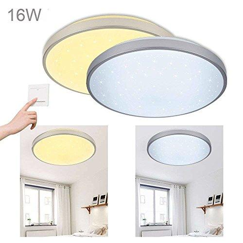 Vgo 16w led plafoniera cambia colore soggiorno lampada da cucina luce plafoniera da soffitto lustri cielo stellato ultra magro camera da letto pranzo risparmio energetico