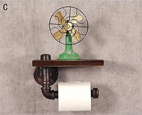 PIGE Creative toilettes Tissue Box Retro toilettes Rouleau Titulaire toilettes Hygiène Toilet Paper Cassette Tray Bathroom Main Tray ( Couleur : C )