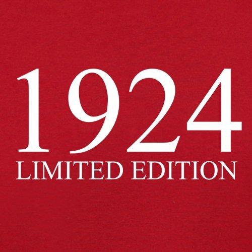 1924 Limierte Auflage / Limited Edition - 93. Geburtstag - Herren T-Shirt - 13 Farben Rot