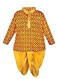 #1: Little Kiddo Sanganeri Dhoti Kurta - Yellow