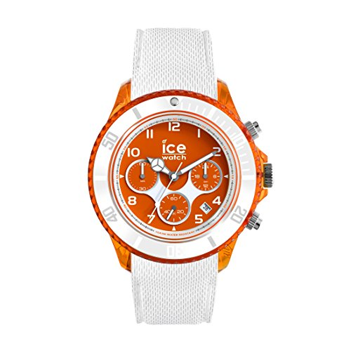 Ice-Watch - ICE dune White Orange red - Montre blanche pour homme avec bracelet en silicone - Chrono - 014221 (Large)