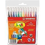 STABILO power - Étui carton de 12 feutres pointe moyenne - Coloris assortis