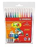 Filzstift - STABILO power - 12er Pack - mit 12 verschiedenen Farben