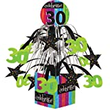 Creative Converting Party Decoration Metallic Foil Cascading Centerpiece, Milestone Celebrations 30t