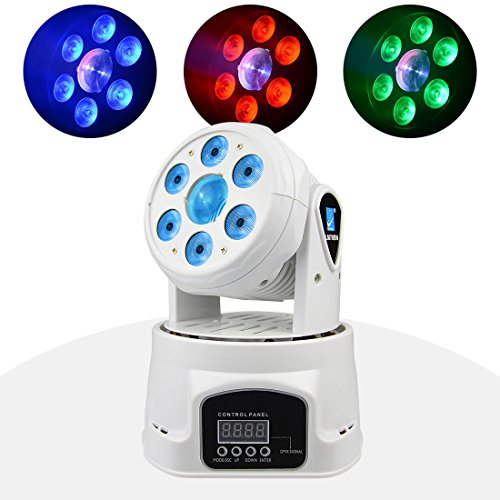 BETOPPER(LM70BN) Moving Head Disco Licht Dj Licht Led Mini Moving Head Professionell DMX 512 8/18 Kanal 6x8w LEDs RGBW Musik bar Beleuchtung Party
