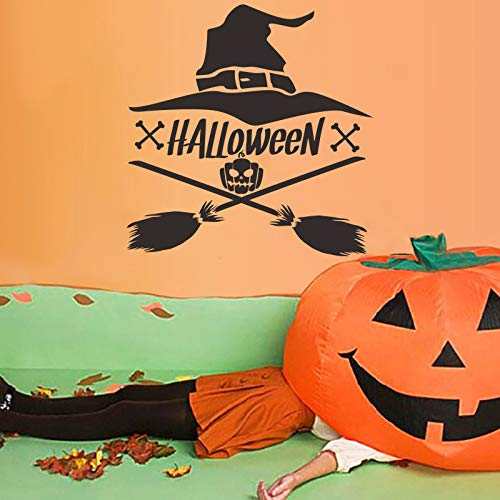 JXFY Wish Exploded New Halloween Wandmalerei Kreative Hexe Kürbis Wanddekoration Ins Aufkleber 44x45cm (Klassenzimmer-tür-dekoration-ideen Für Halloween)