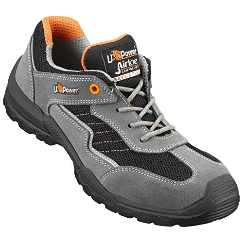 UPOWER, Scarpe da corsa uomo Multicolore (grau-schwarz-orange)