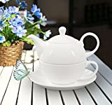 Buchensee Porzellan Tea for one / Tea4one / Teeservice / Teeset 4-teilig 400ml, fine bone china, Original Aricola®