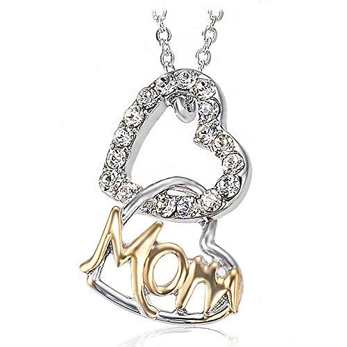 plaqu-or-18k-dangle-mom-collier-pendentif-pour-femme-teen-filles-double-coeurs-charm-bijoux-tendance