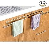 Alliebe 2pcs toallero colgador titular para organizador de baño cocina gabinete armario percha sobre la puerta