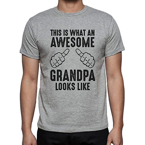 This Is What An Awesome Grandpa Looks Like Black T Rex Herren T-Shirt Grau