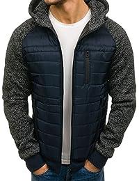 BOLF – Veste à mi-saison – À capuche – Fermeture éclair– Style sportif – Blouson – Homme 4D4
