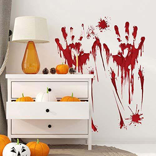 QHJ Aufkleber,Blut Hand Aufkleber Zombie Halloween Lebensgroße Auto Wand Boden Sticks Decor (B) -