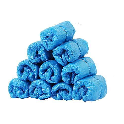 Happyx copriscarpe blu copriscarpe igienico monouso usa e getta antiscivolo antipioggia antipolvere per visitatore, casa, piscina e ospedale (100pezzi)