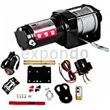MSW - Treuil offroad PROPULLATOR 3500-A - 1587 kg - Crochet et poulie de guidage - Radiotélécommande - Frais d'envoi inclus