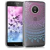 kwmobile Funda para Motorola Moto G5 - Carcasa de [TPU] para móvil y diseño de Sol hindú en [Azul/Rosa Fucsia/Transparente]