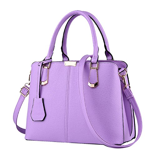Damenhandtaschen Aus Leder Damen Wasserdichte Umhängetasche Tragetaschen Purple