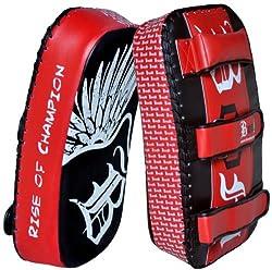 Boom Prime Curved Thai Pad Kick Boxing Mma Strike Muay Thai Boxing Strike Shield Pad (Free Uk Shipping)