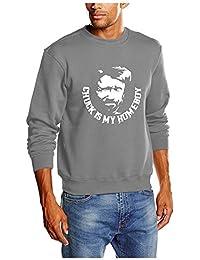 Touchlines Herren Sweatshirt Chuck Norris is my Homeboy B3145
