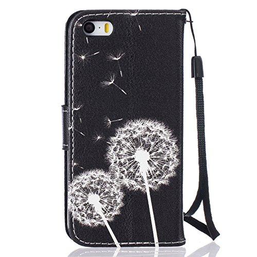 PU Silikon Schutzhülle Handyhülle Painted pc case cover hülle Handy-Fall-Haut Shell Abdeckungen für Smartphone Apple iPhone 5 5S SE +Staubstecker (8DB) 6