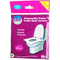 GoHygiene Travel Pack Essential - DISPOSABLE PAPER TOILET SEAT COVERS - BRAND NEW - 1 PACK (10pcs)