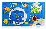 Casadamia Badematte für Kinder anti-rutsch Badewannenmatte für Babys | ideale Größe 40 x 70cm | PVC rutschfeste Badewannen-einlage mit Wärmeindikator für ideale Badetemperatur