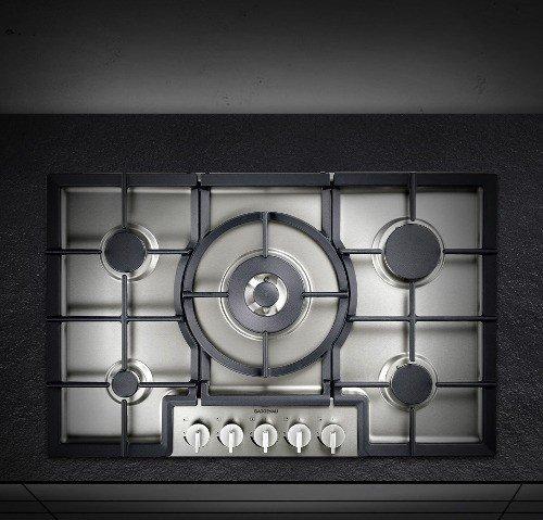 Gaggenau - Piano Cottura a Gas Metano Filotop CG 280 210 Finitura Acciaio  Inox da 80cm