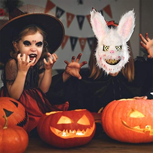 Kopf Kostüm Scary Kaninchen - Gruselige Scary Horror Halloween Plüsch Maske Einzigartige Kaninchen Panda Wolf Bär Form Plüsch Maske Festliche Party Supplies (Gelber Bär)