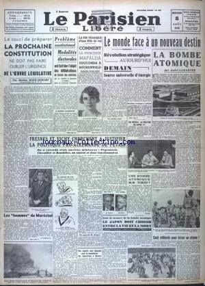 PARISIEN LIBERE EDITION DE 5 HEURES (LE) [No 305] du 08/08/1945