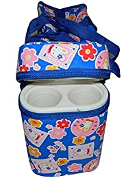 Chinmay Kids Multi Purpose Baby Diaper Mother Bag With 2 Bottle Holders - Keep Baby Bottles Warm - Assorted Prints...