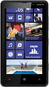 Nokia Lumia 820 Smartphone (10,9 cm (4,3 Zoll) ClearBlack OLED WVGA Touchscreen, 8 Megapixel Kamera, 1,5 GHz Dual-Core-Prozessor, NFC, LTE-fähig, Windows Phone 8) matt black
