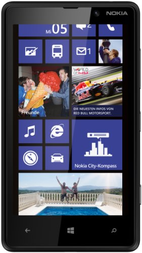 Nokia Lumia 820 Smartphone (10,9 cm (4,3 Zoll) ClearBlack OLED WVGA Touchscreen, 8 Megapixel Kamera, 1,5 GHz Dual-Core-Prozessor, NFC, LTE-fähig, Windows Phone 8) matt black (Nokia Phone Windows 8)