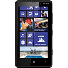 "Nokia Lumia 820 - Smartphone libre Windows Phone (pantalla 4.3"", cámara 8 Mp, 8 GB, Dual-Core 1.5 GHz, 1 GB RAM), negro mate [importado]"