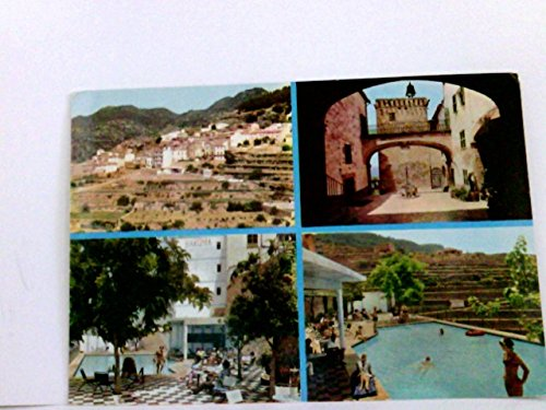 Seltene Mehrbild AK Hotel Baronia, Banyalbúfar Mallorca. Balearen. Ortsansicht, Ortsinneres, Poolanlage mit Terrasse, Swimmingpool mit Personen